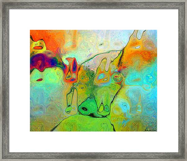 A Message For Miro Framed Print