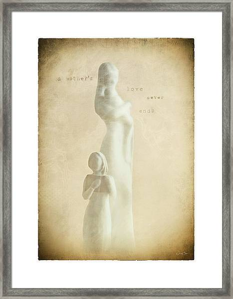 A Mothers Love Framed Print by Norma Slack