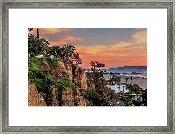A Nice Evening In The Park Framed Print