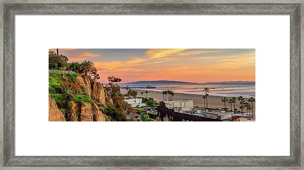 A Nice Evening In The Park - Panorama Framed Print