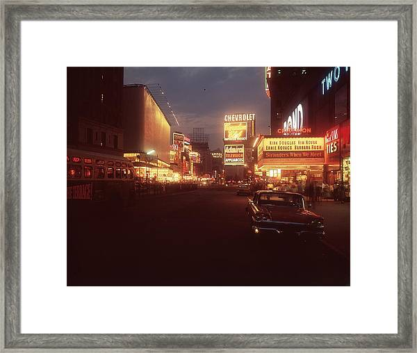 A Night In New York Framed Print