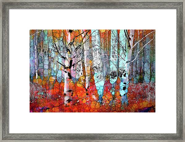 A Party In The Forest Framed Print