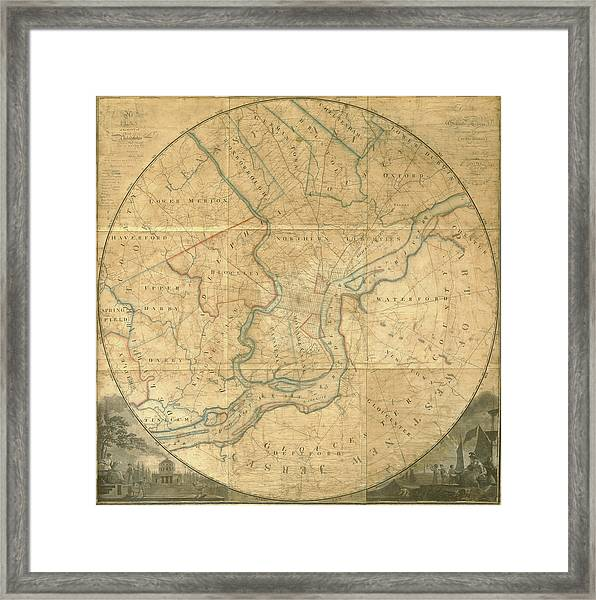 A Plan Of The City Of Philadelphia And Environs, 1808-1811 Framed Print