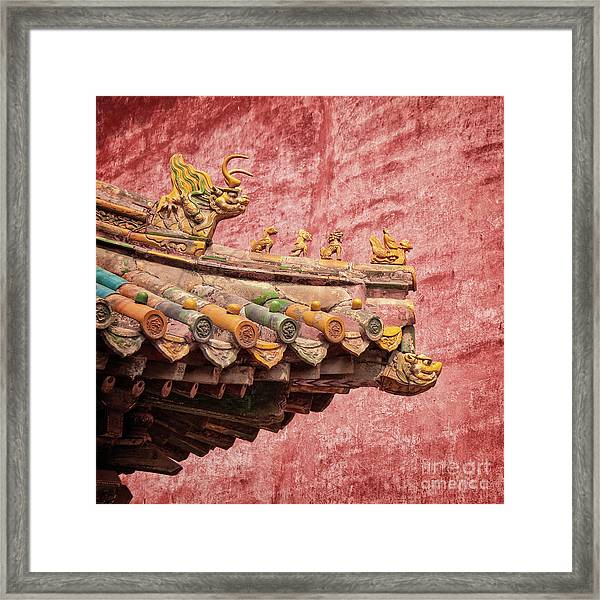 A Roof In The Forbidden City Framed Print