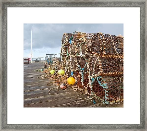 A Selection Of Lobster Pots On The Framed Print