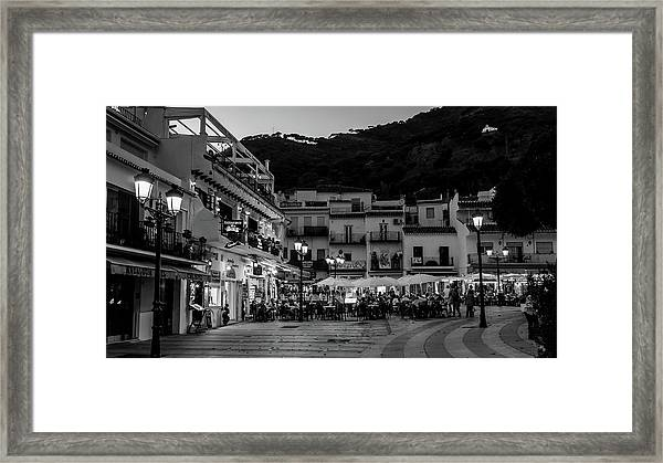 A Square To Dine In Framed Print