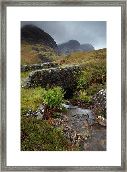 A View Of The Three Sisters Of Glencoe Framed Print