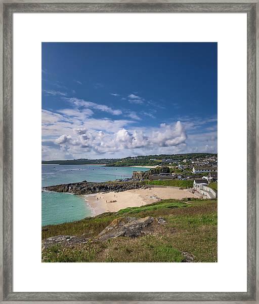 A Walk To Porthgwidden Beach - St Ives Cornwall Framed Print