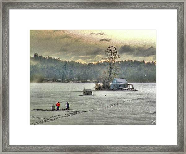 A Warm Glow On A Cool Scene Framed Print