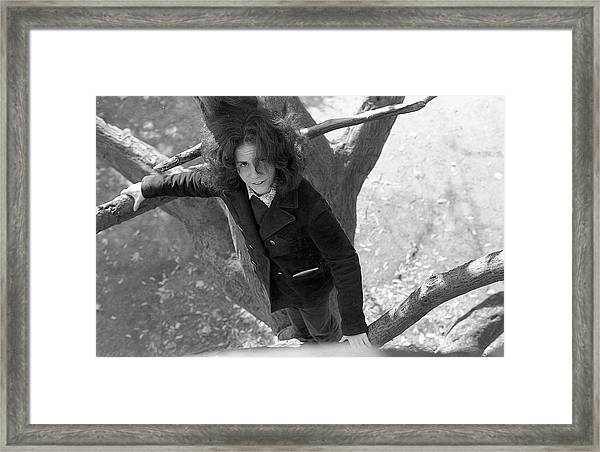 A Woman In A Tree, 1972 Framed Print