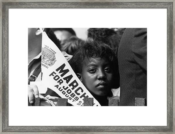 A Young Marcher Framed Print