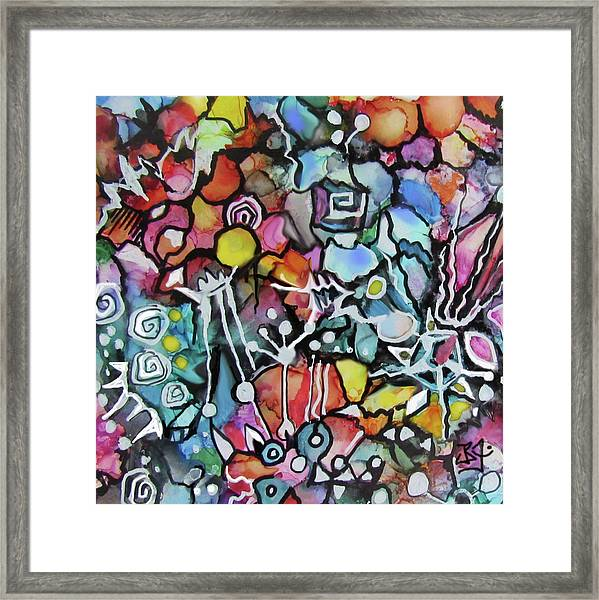 A Zentangle Dance Framed Print