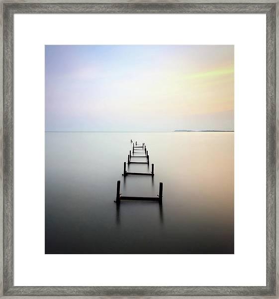 Abandon Jetty Framed Print