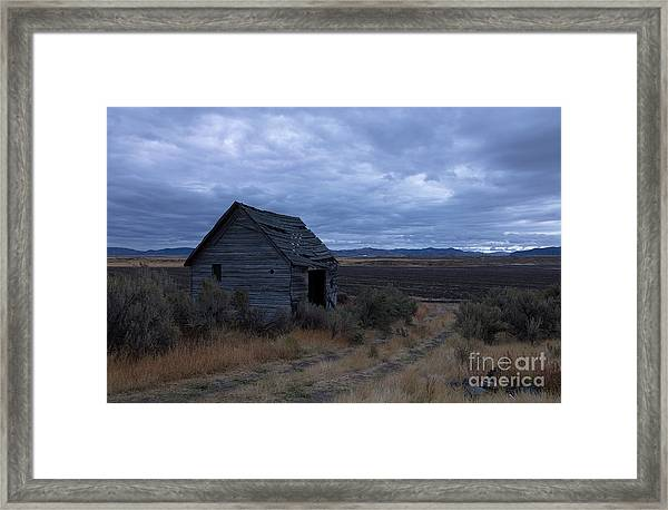 Abandoned And Blue Framed Print