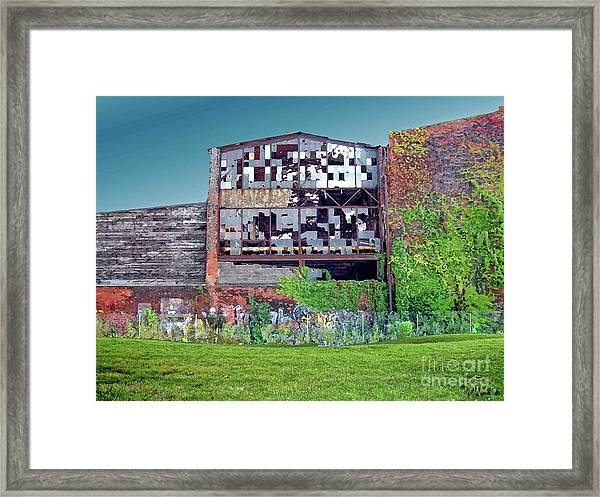 An Abandoned Factory In Detroit Framed Print