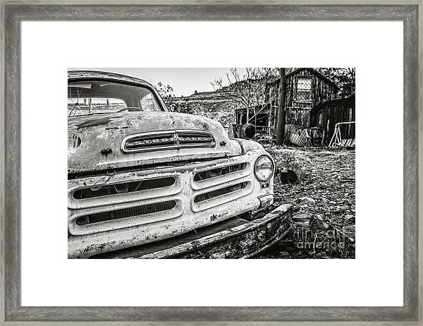 Abandoned Ghost Town Studebaker Truck Framed Print