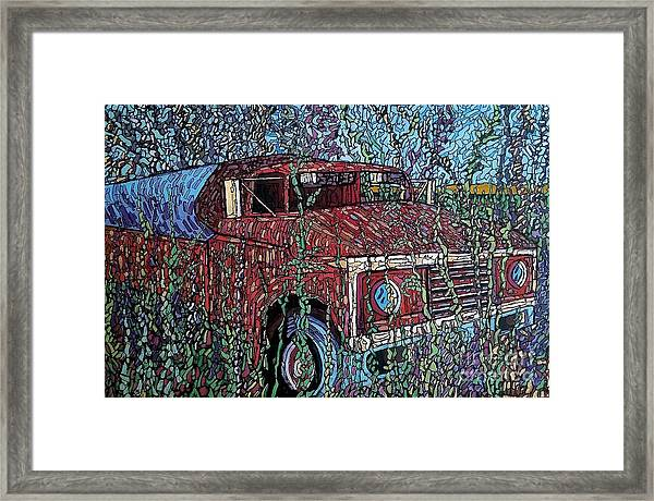 Abandoned Oil Truck  Framed Print