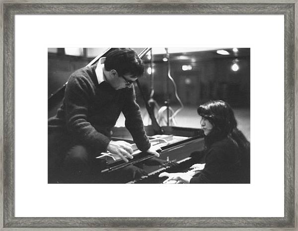 Abbado On Piano Framed Print by Erich Auerbach