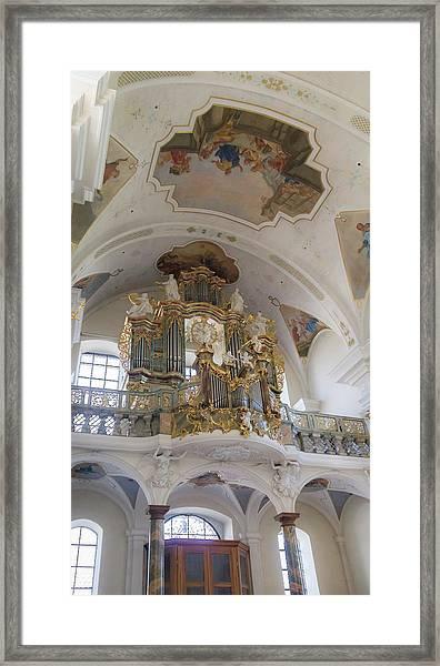Abbey Of Saint Peter Main Organ Framed Print