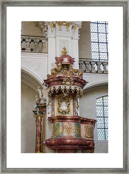 Abbey Of Saint Peter Pulpit Framed Print