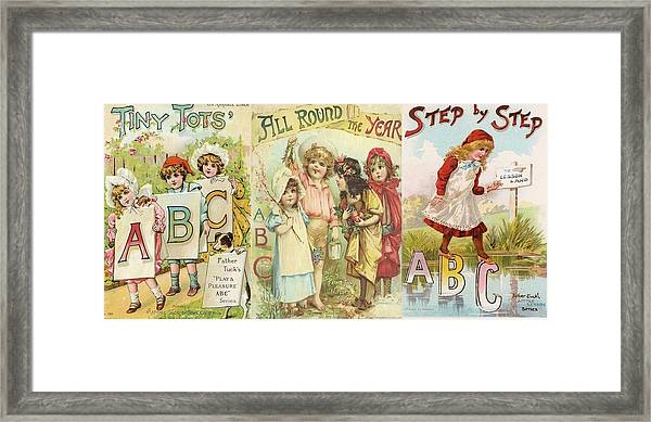 Abc Book Cover 7 For Mugs Framed Print