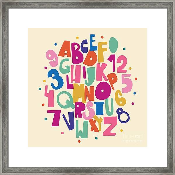 Abc For Kids Framed Print