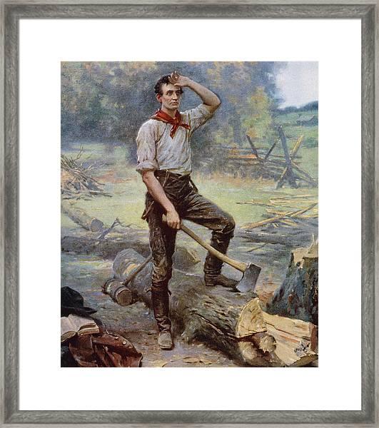 Abe Lincoln The Rail Splitter  Framed Print