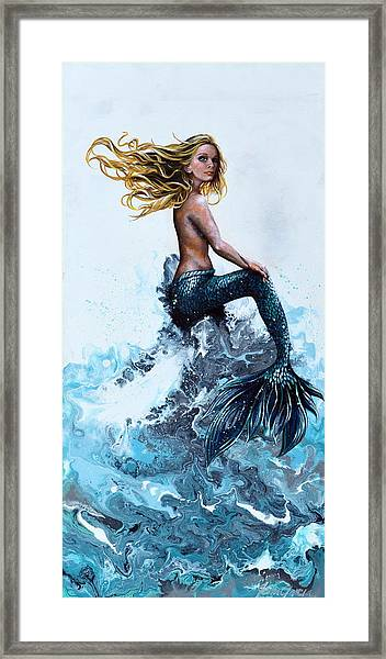 Above A Stormy Sea Framed Print
