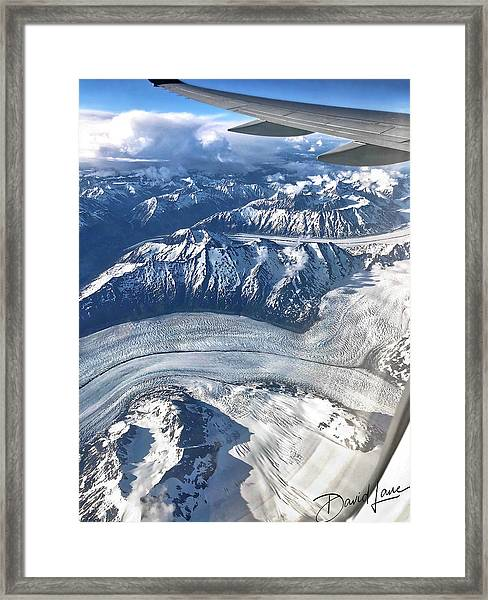 Framed Print featuring the photograph Above Alaska by David A Lane