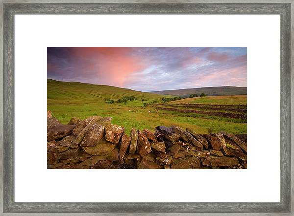 Above Kettlewell After Sunset Framed Print by Pixelda Picture License