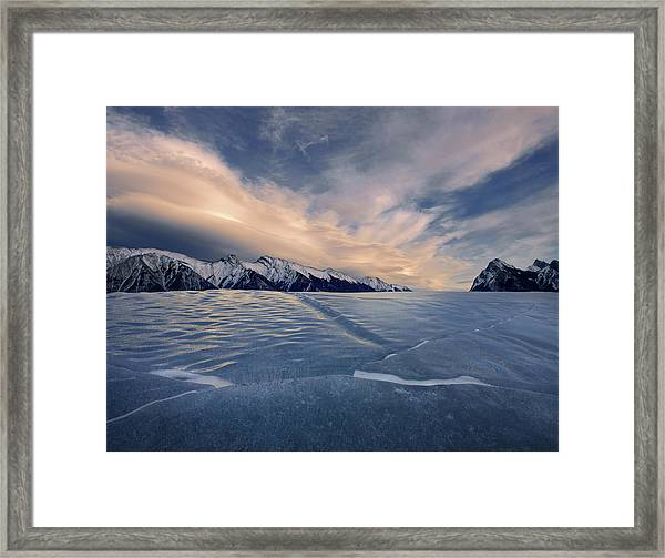 Abraham Lake Ice Wall Framed Print