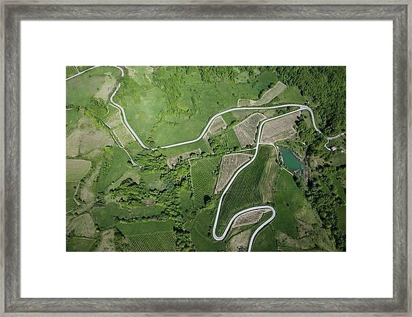 Abruzzo Aerial View Framed Print