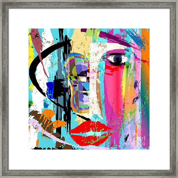 Abstract Background Composition, With Framed Print