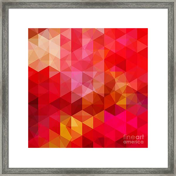 Abstract Background Consisting Of Red Framed Print