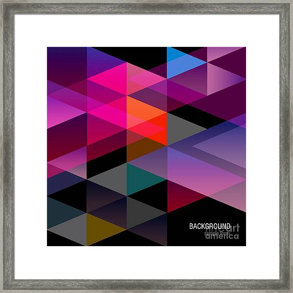Abstract Background For Design Framed Print