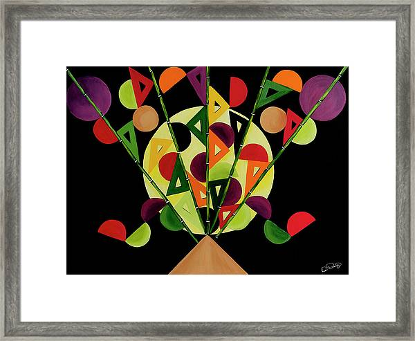 Framed Print featuring the painting Abstract Bouquet  by Dee Browning
