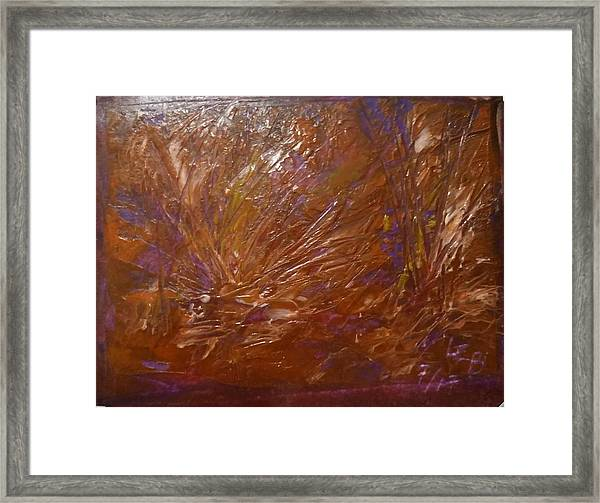 Abstract Brown Feathers Framed Print