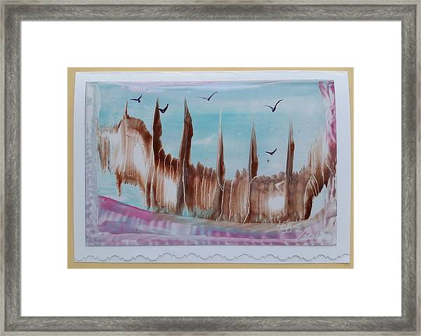 Abstract Castles Framed Print