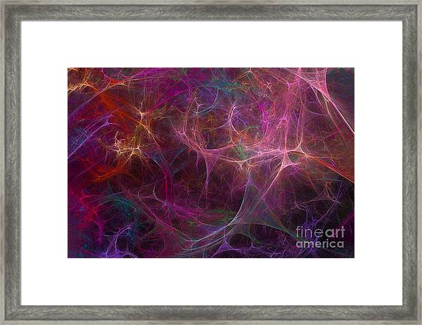 Abstract Colorful Fireworks Framed Print