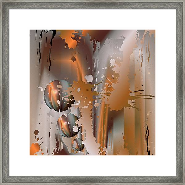 Abstract Copper Framed Print