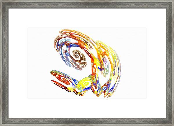 Abstract Crab Yellow Framed Print