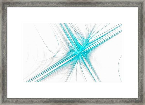 Abstract Cross Light Blue Framed Print
