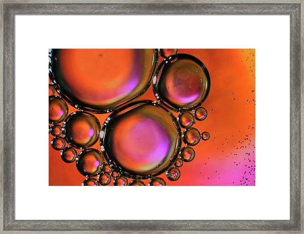 Abstract Droplets Framed Print
