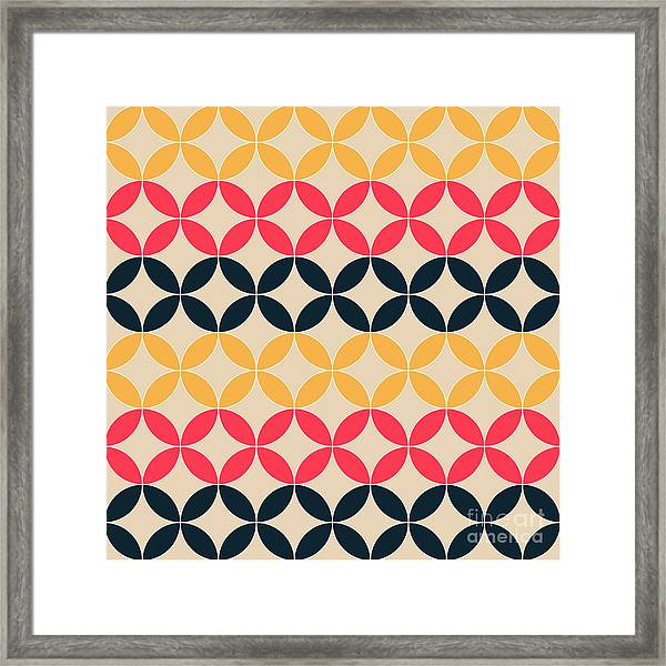 Abstract Geometric Artistic Pattern Framed Print