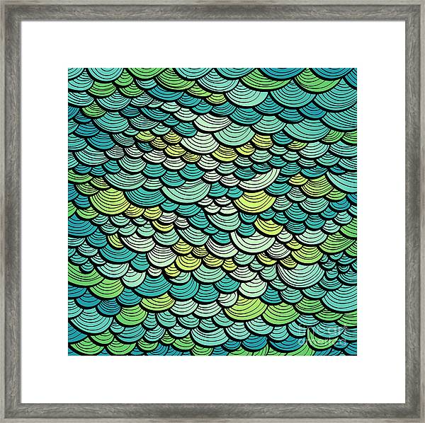 Abstract Green Marine Background Framed Print