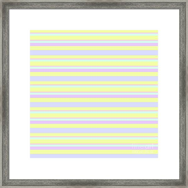 Abstract Horizontal Fresh Lines Background - Dde596 Framed Print
