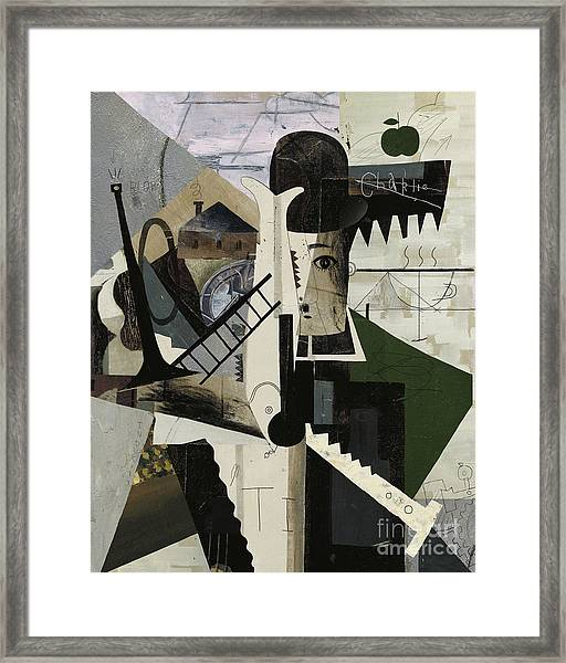 Abstract Image Of Charlie Framed Print