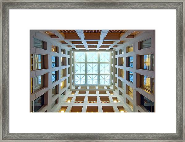 Abstract Interior Of An Atrium, New Framed Print