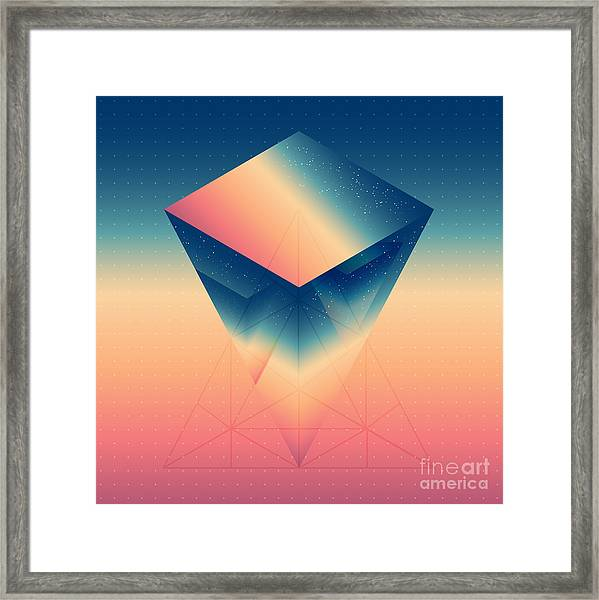 Abstract Isometric Prism With The Framed Print by Boris Znaev