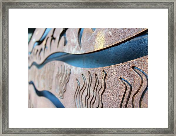 Abstract Lake Patricia Sign 1 Framed Print